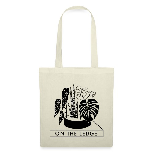 On The Ledge black and white logo - Tote Bag