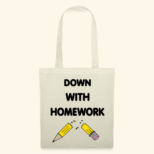 Down With Homework - Tote Bag