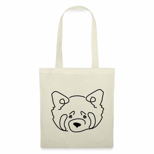 Panda Roux noir et blanc - Tote Bag
