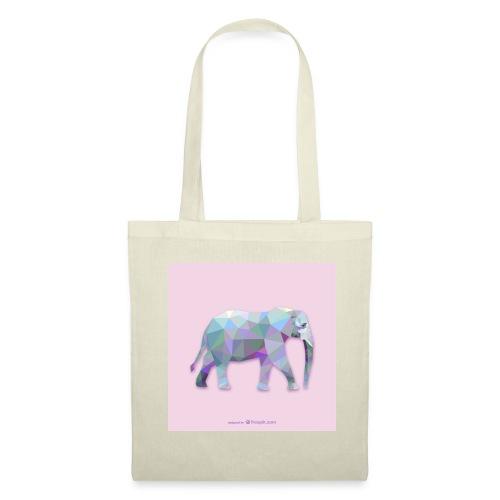 Elefante Intero triangoli - Borsa di stoffa