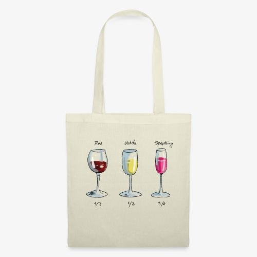 bichieri con vino - Borsa di stoffa