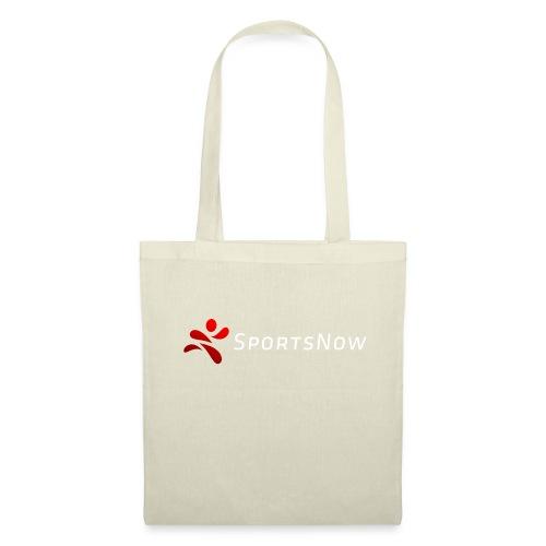 SportsNow-Logo mit weisser Schrift - Stoffbeutel