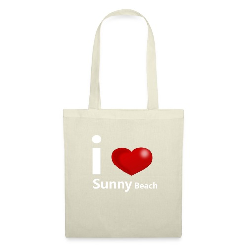 I love Sunny Beach 2 (white print) - Tote Bag