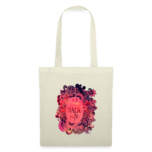 Vibe With Me Flower T Shirt - Tote Bag