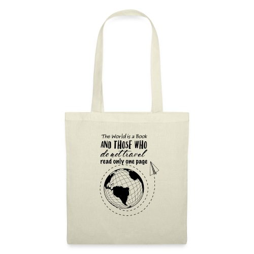 world book black - Borsa di stoffa