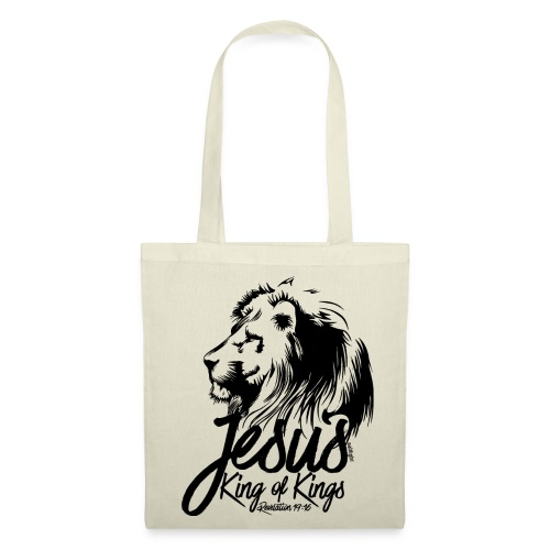 LION - JESUS KING OF KINGS // Black - Tote Bag