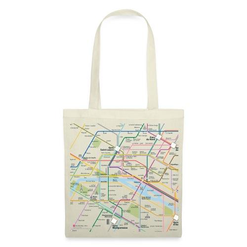 Paris Map Square - Tote Bag