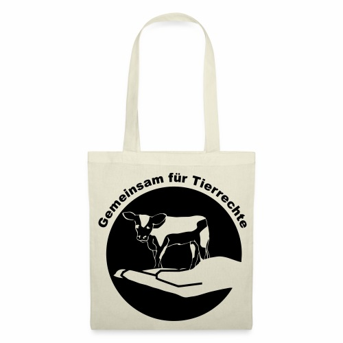 Gemeinsam fuer Tierrechte Logo - Stoffbeutel