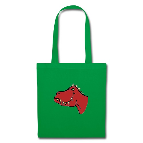 T Rex, Red Dragon - Tote Bag