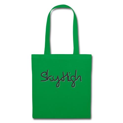 SkyHigh - Men's Premium T-Shirt - Black Lettering - Tote Bag