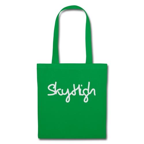 SkyHigh - Women's Hoodie - Gray Lettering - Tote Bag