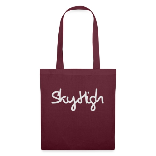 SkyHigh - Women's Hoodie - Gray Lettering - Tote Bag