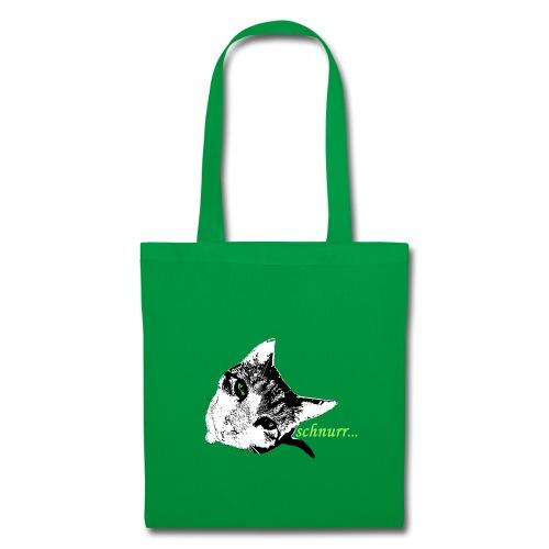 Katze schnurr - Stoffbeutel
