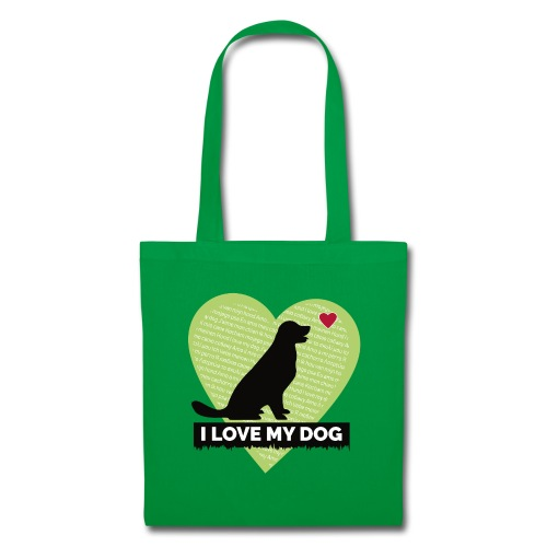 I LOVE MY DOG HEART - Tote Bag