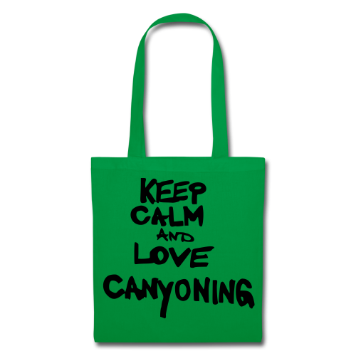 keep calm and love canyoning - Stoffbeutel