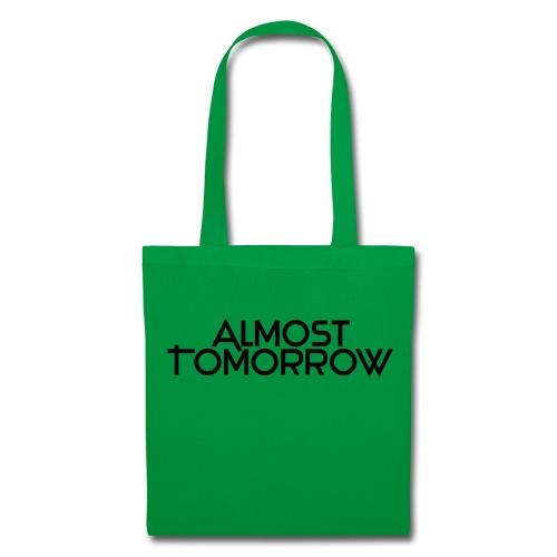 Almost Tomorrow Logo Black - Stoffbeutel