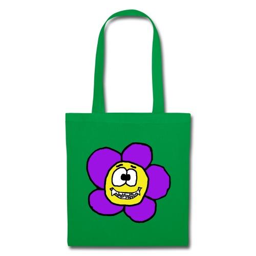 Blume mit Zähnen von roadtripgirl.ch - Stoffbeutel
