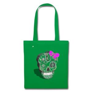 Tête de mort mexicaine 3D - Tote Bag
