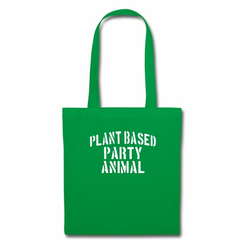 Plant Based Party Shirt Veganer T-Shirt Geschenk - Stoffbeutel