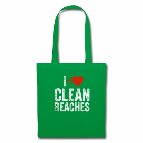 I Love Clean Beaches Shirt Save the Planet Shirt - Stoffbeutel