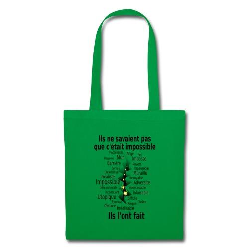 Impossible et fait Hommes brèche Fond Clair - Tote Bag