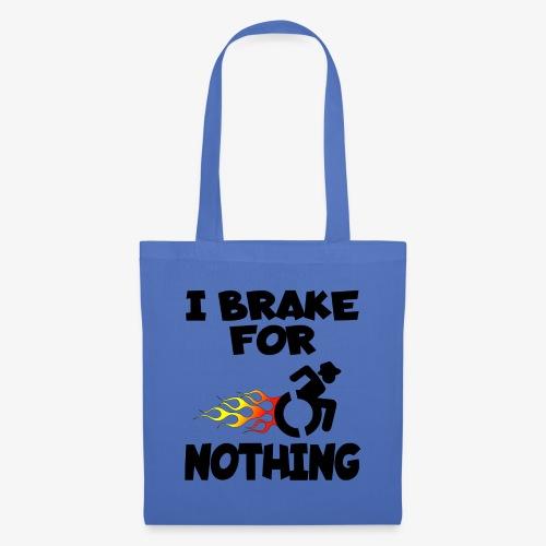 > Ik stop voor niemand in mijn rolstoel, roller - Tas van stof