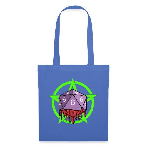 Würfel RPG Spiel Rollenspiele 666 mit Pentagramm - Stoffbeutel