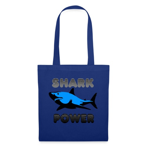 Shark Power Blau - Stoffbeutel