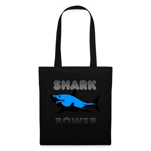 Shark Power Blau - Stoffbeutel