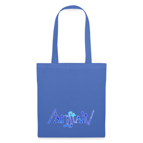 /'angstalt/ logo gerastert (blau/weiss) - Stoffbeutel