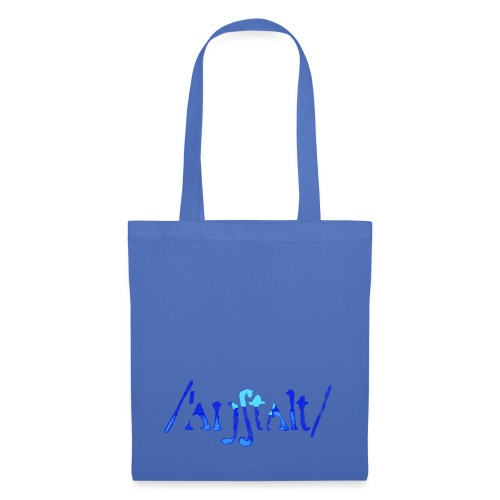 /'angstalt/ logo gerastert (blau/transparent) - Stoffbeutel