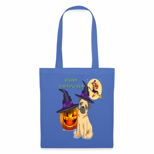 pug halloween - Sac en tissu