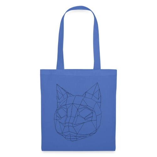 CAT wireframe black low poly - Bolsa de tela