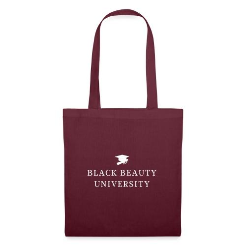 BLACK BEAUTY UNIVERSITY LOGO BLANC - Tote Bag