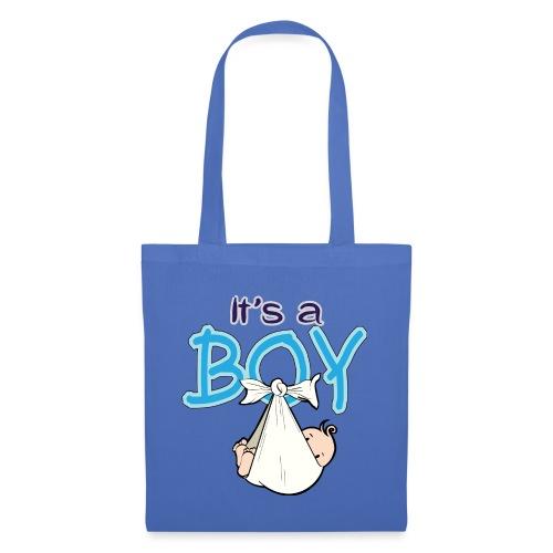 Babyshower Boy Blauw - Tas van stof
