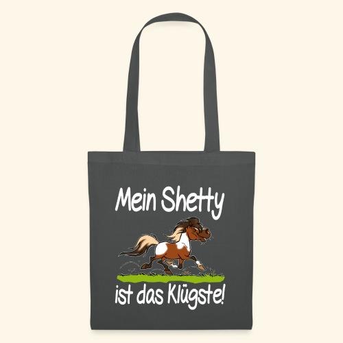 Mein Shetty das Klugste (Text weiss - Tote Bag