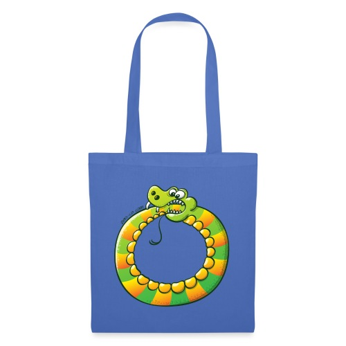 Crazy Snake Biting its own Tail - Tote Bag