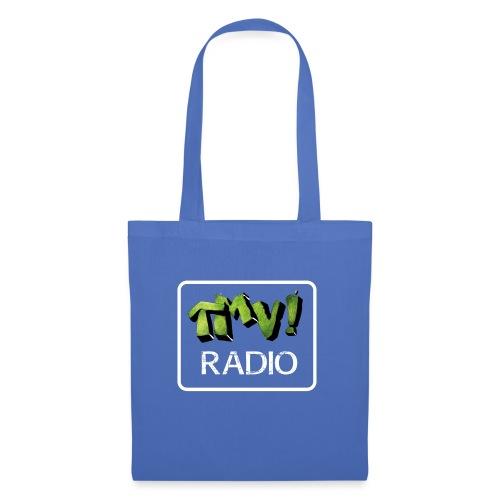 TMV RADIO logo bianco - Borsa di stoffa