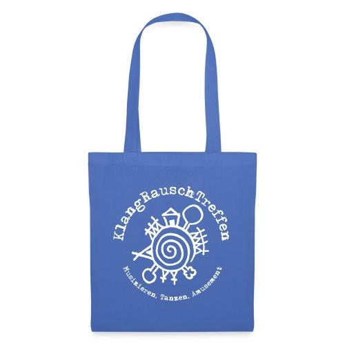 KlangRauschTreffen Logo mit Schrift rund - Stoffbeutel