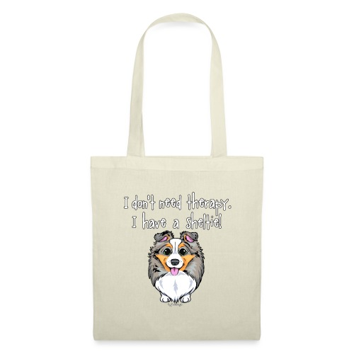 Sheltie Dog Therapy 3 - Tote Bag