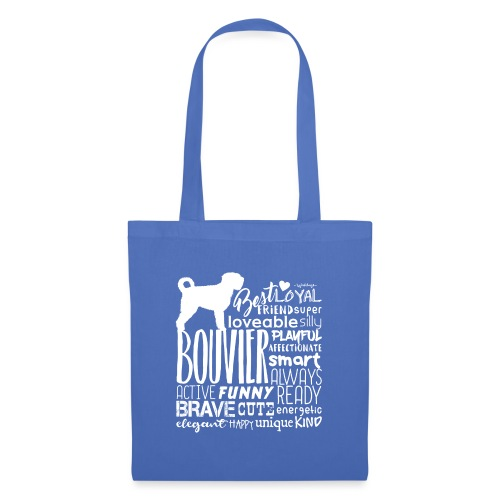 Bouvier Words White - Tote Bag