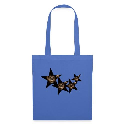 leon estrellas camiseta - Bolsa de tela