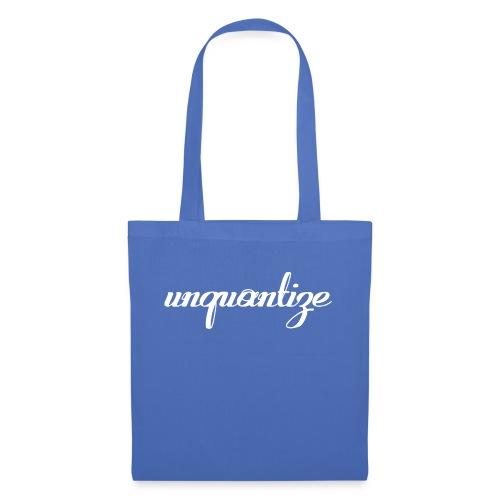 unquantize white logo - Tote Bag