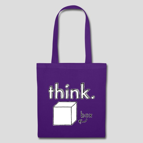 Think Outside The Box Illustration - Tote Bag
