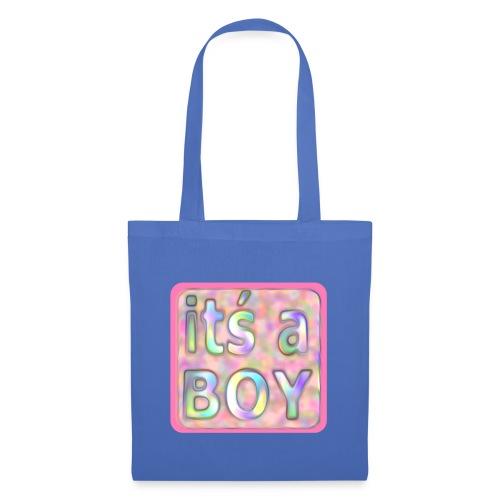 its a boy rosa text skylt - Tote Bag