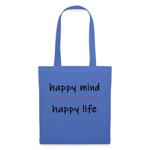 happy mind - happy life - Stoffbeutel