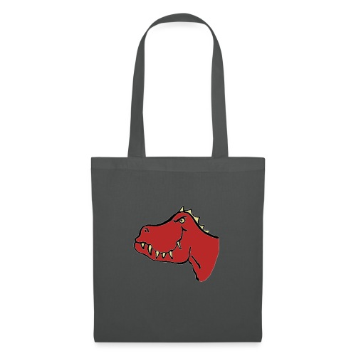 T Rex, Red Dragon - Tote Bag