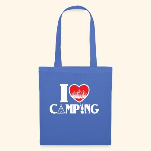 I love camping Herz Berge Zelt Lampe Tent Woods - Stoffbeutel
