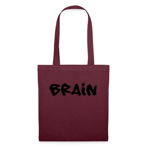 brain schriftzug - Stoffbeutel