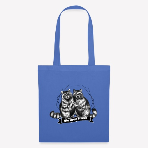 Raccoon – We love trash - Stoffbeutel